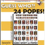 Brand New Guess Who! 24 POPES Free Template!
