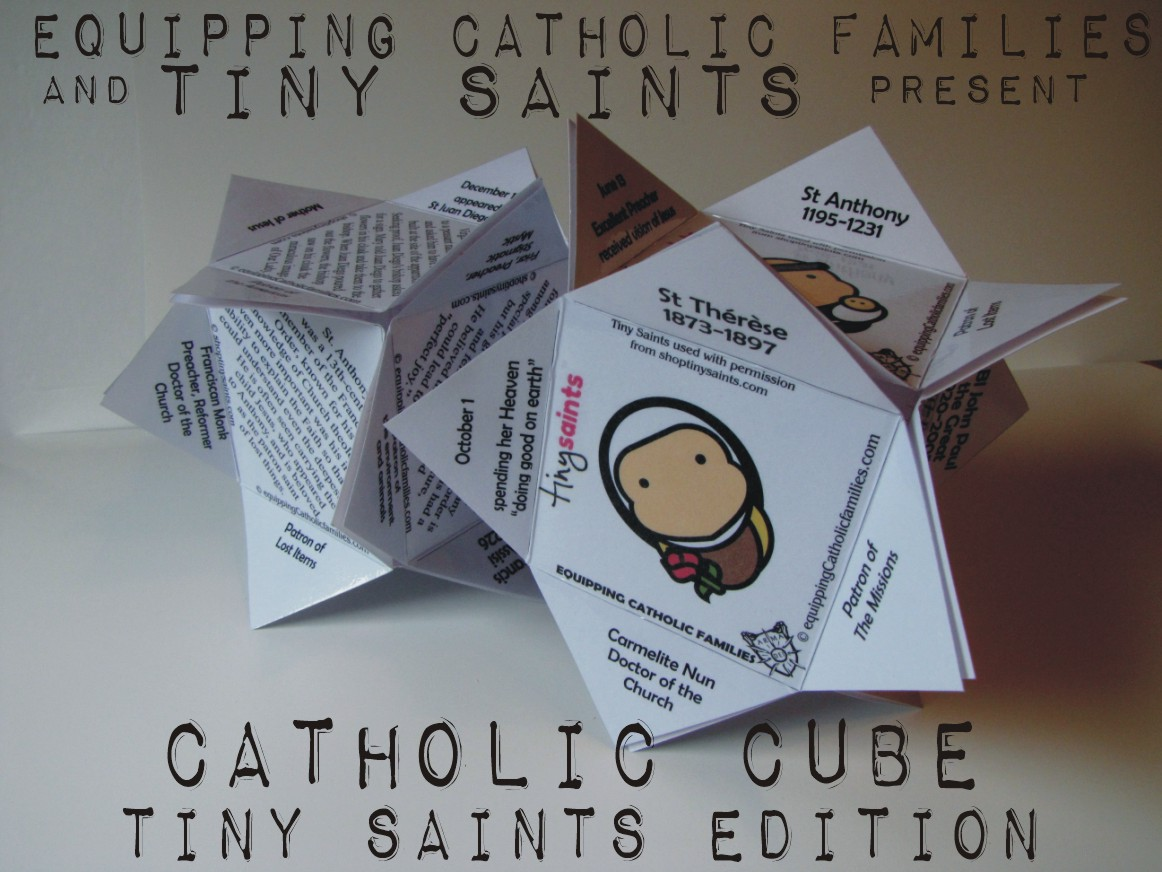 Tiny Saints Catholic Cube Craft Kit: NEW!