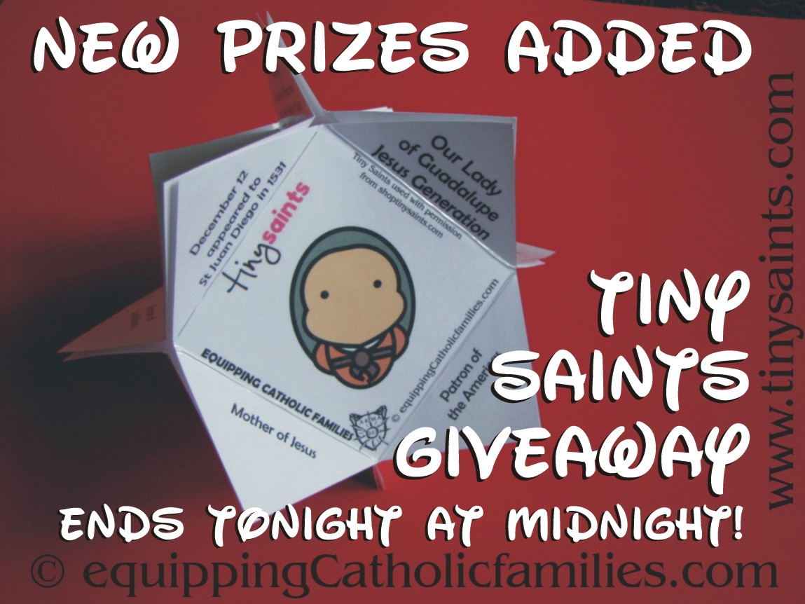 New prizes added to Tiny Saints Giveaway: it ends tonight!