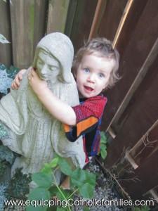 Adam hugging Mary