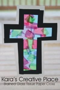 stained glass window cross