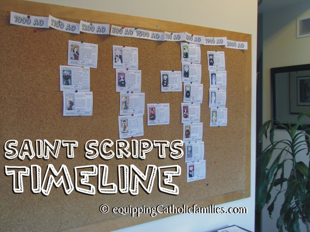 Diy Calendar Bulletin Board : Saints timeline for visual learners equipping