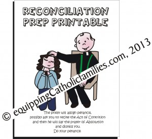 Reconciliation Prep Printable