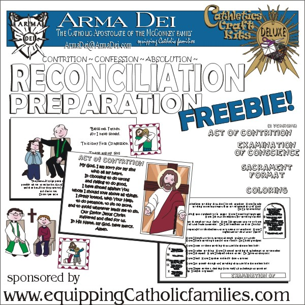 First Reconciliation Prep: Peek Sheets Printable!