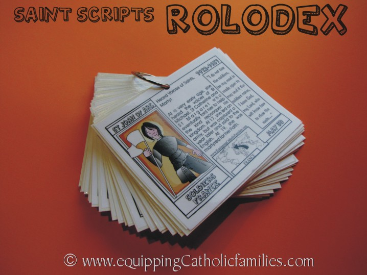Saints Scripts Rolodex