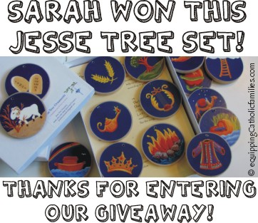 Winner of Jesse Tree Treasures!