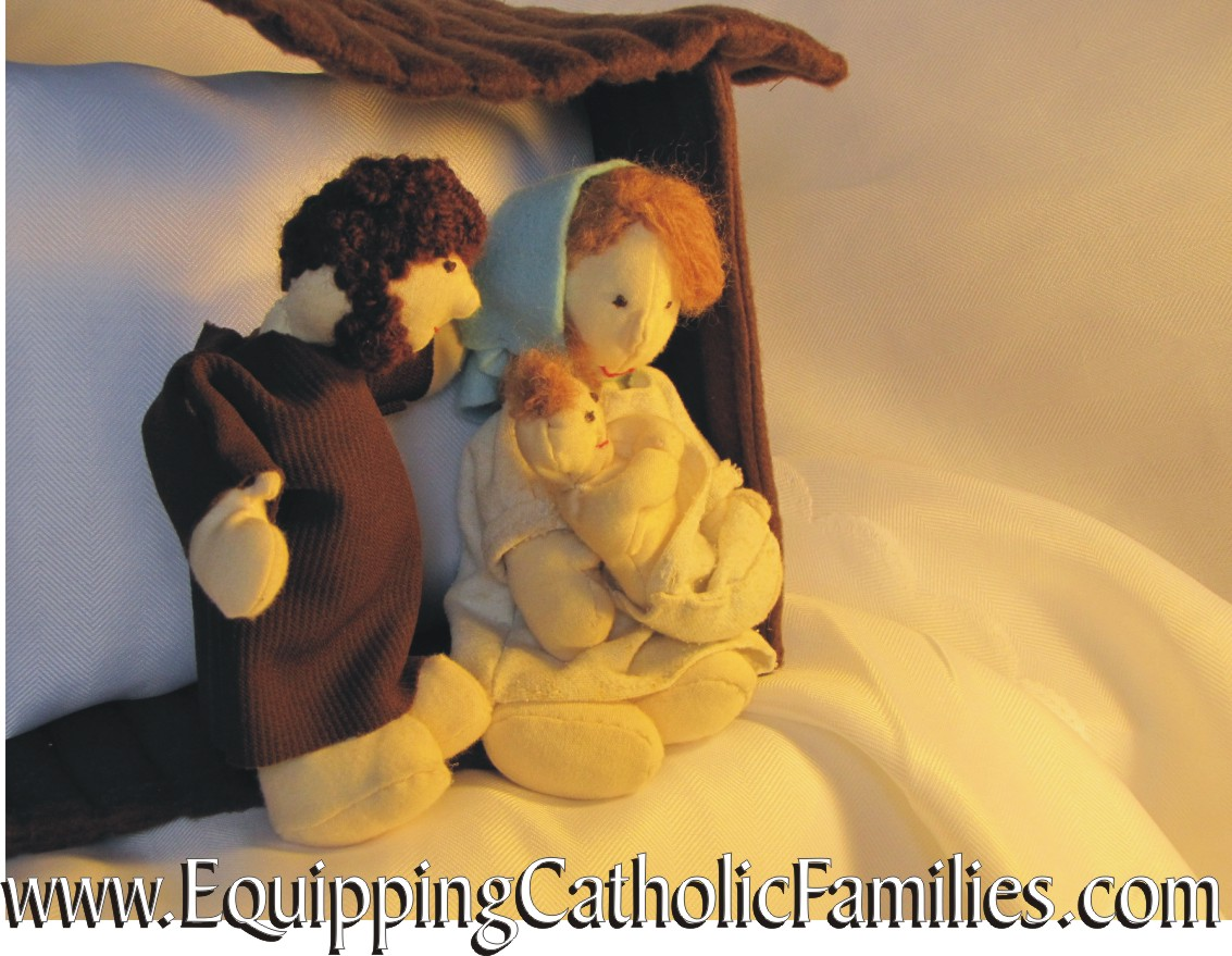 nativity by the fire