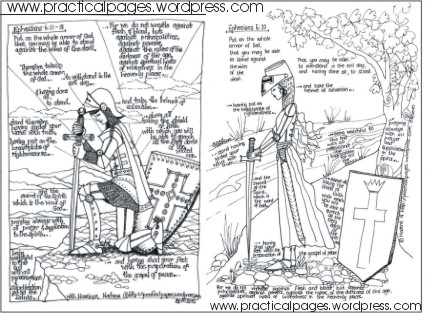Armor of God Coloring Pages small