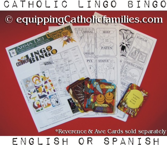 Catholic Lingo Bingo: Vessels and Vestments!