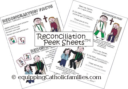 "Reconciliation ""Peek Sheets"" Printable!"