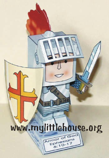little paper knight printable