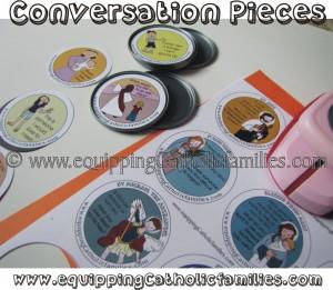 frozen juice lid conversation pieces