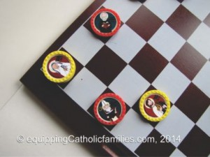 Checkers with the Saints