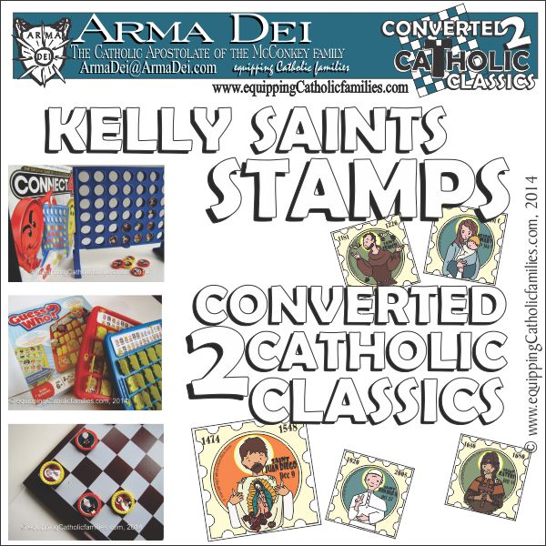 Kelly Saints Stamps: Converted 2 Catholic Classics