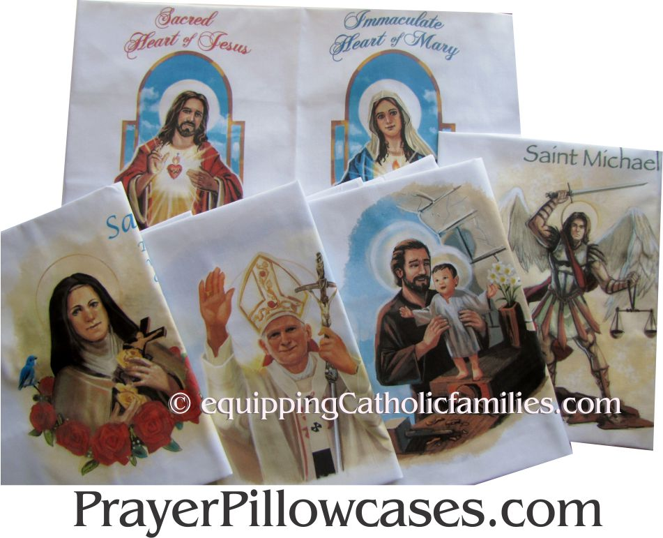 Five Prayer Pillowcases