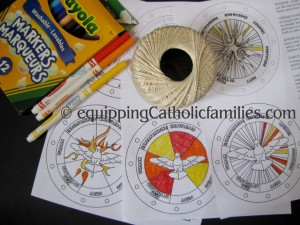 Holy Spirit Spinner Materials