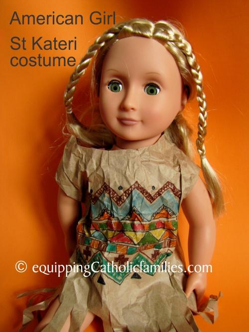 DIY St Kateri dress for American Doll
