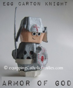 Egg Carton Knight white belt