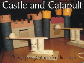castle and catapult
