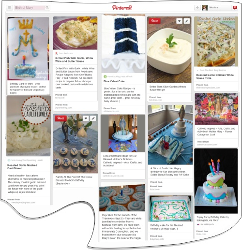 Birth of Mary on Pinterest search