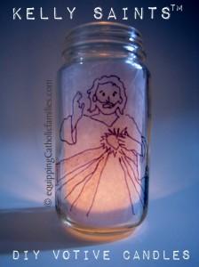 Divine Mercy Baby Jar Votive