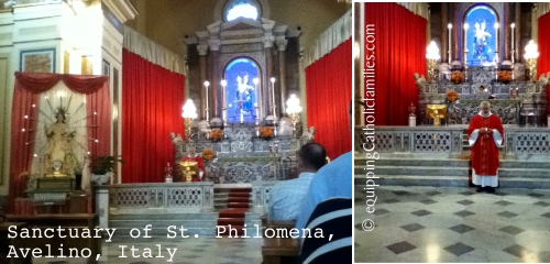 Day 7 St Philomena Mass