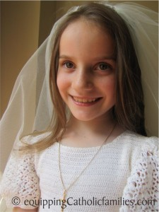 Bridget First Communion portrait