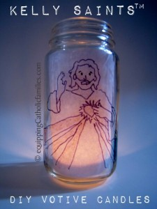 Divine Mercy Baby Jar Votive