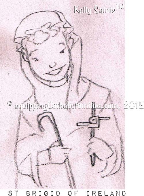 St Brigid sketch