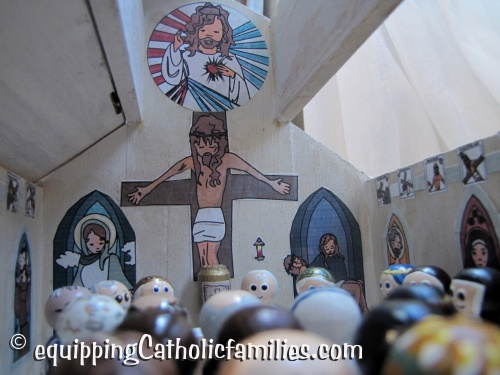 Kelly Saints Cathedral for the Wooden Painted Saints!