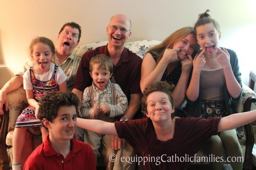 goofy family picture