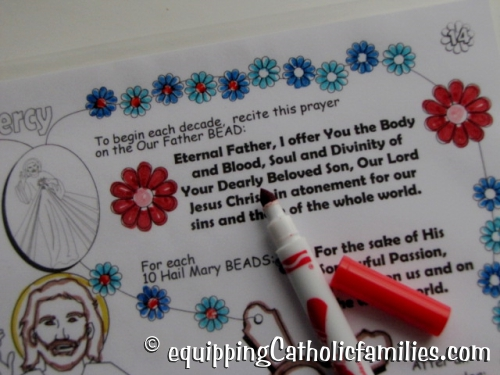 Divine Mercy with dry erase markers