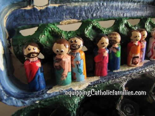 Miniature Passion Peg Dolls in an Egg Carton