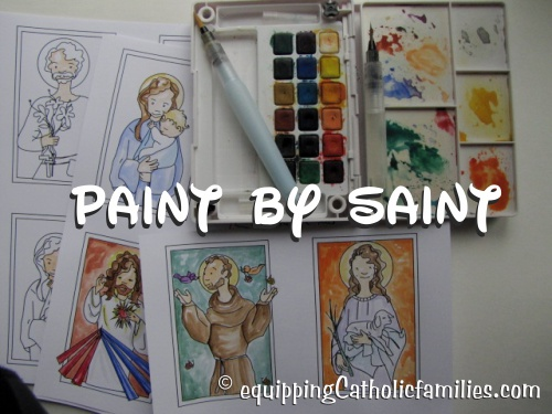 Paint by Saint with watercolor