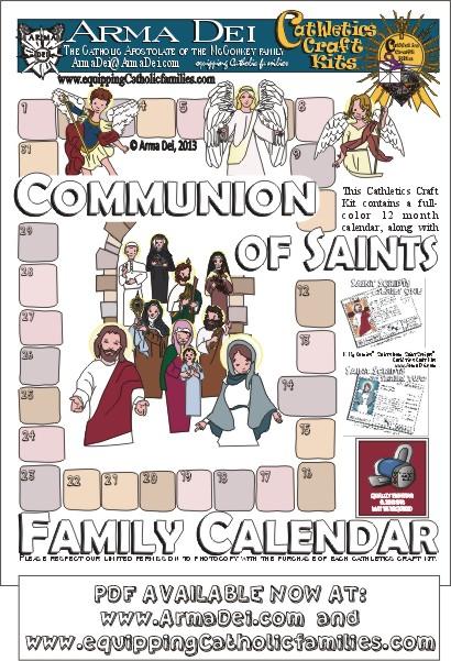 Summer Project! Communion of Saints Family Calendar