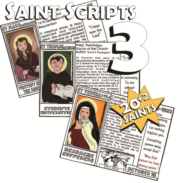 3 cards saint scripts three