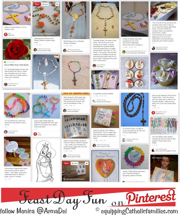 Rosary Crafts on Pinterest