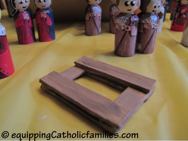 Popsicle stick cradle