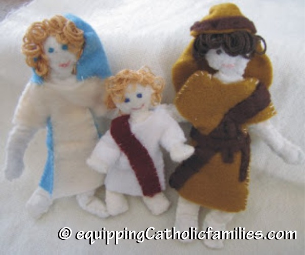 Felt Friends Nativity