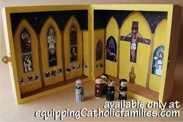 Painted Saints Church in a Box