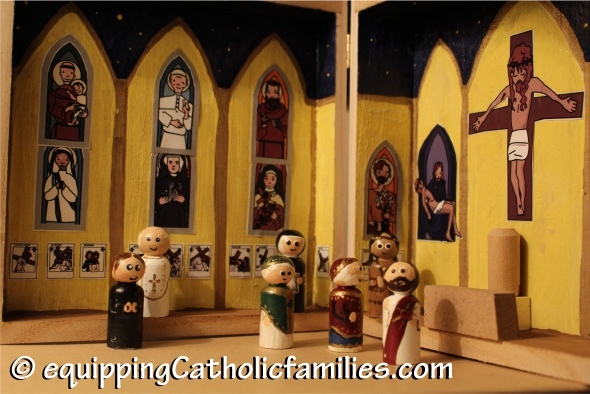 painted saints in a church
