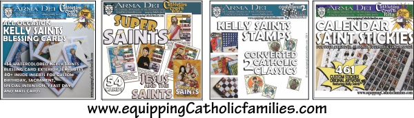 Blessingcards supersaints stamps stickies2