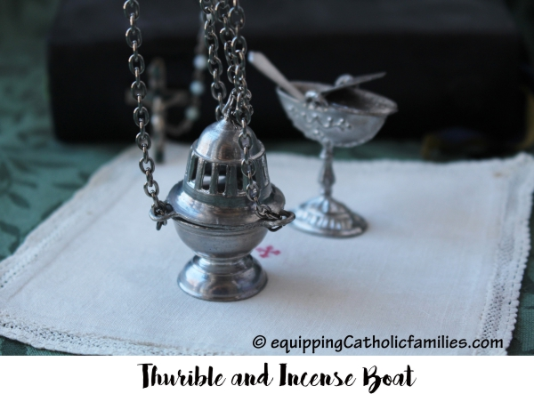 Vintage Miniature Thurible and Boat
