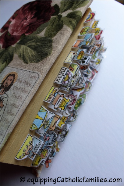 bible tabs on DIY hardcover bible