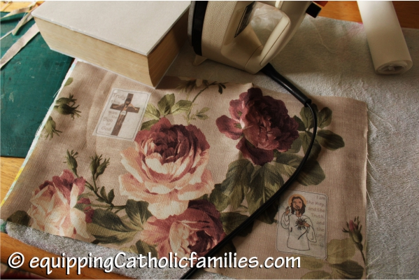 fabric cover with iron on printed patch